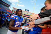 Florida Gators defensive back Chester Kimbrough (25) and the Gators celebrate after defeating the Vanderbilt Commodores 56-0 at Ben Hill Griffin Stadium in Gainesville, Florida on November 9th, 2019 (Photo by David Bowie/Gatorcountry