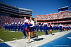 The Florida Gators Cheerleaders perform as the Gators defeat the Vanderbilt Commodores 56-0 at Ben Hill Griffin Stadium in Gainesville, Florida on November 9th, 2019 (Photo by David Bowie/Gatorcountry)