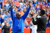 Florida Gators track and field coach Mike Holloway is honored during timesouts, as the Gators defeat the Vanderbilt Commodores 56-0 at Ben Hill Griffin Stadium in Gainesville, Florida on November 9th, 2019 (Photo by David Bowie/Gatorcountry)
