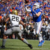 Florida Gators quarterback Kyle Trask (11) passing as the Gators defeat the Vanderbilt Commodores 56-0 at Ben Hill Griffin Stadium in Gainesville, Florida on November 9th, 2019 (Photo by David Bowie/Gatorcountry)