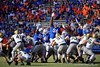 Florida Gators defensive lineman Tedarrell Slaton (56) attempts to block a field goal attempt as the Gators faced and defeat the Vanderbilt Commodores 56-0 at Ben Hill Griffin Stadium in Gainesville, Florida on November 9th, 2019 (Photo by David Bowie/Gatorcountry)
