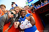 Florida Gators defensive lineman Adam Shuler (88) and the Gators celebrate after defeating the Vanderbilt Commodores 56-0 at Ben Hill Griffin Stadium in Gainesville, Florida on November 9th, 2019 (Photo by David Bowie/Gatorcountry