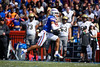 Florida Gators defensive back Donovan Stiner (13) intercepts a pass as the Gators defeat the Vanderbilt Commodores 56-0 at Ben Hill Griffin Stadium in Gainesville, Florida on November 9th, 2019 (Photo by David Bowie/Gatorcountry)