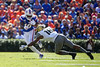 Florida Gators wide receiver Josh Hammond (10) avoids a tackle by Vanderbilt Commodores defensive back BJ Anderson (16) as the Gators defeat the Vanderbilt Commodores 56-0 at Ben Hill Griffin Stadium in Gainesville, Florida on November 9th, 2019 (Photo by David Bowie/Gatorcountry)
