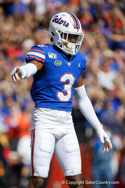 Florida Gators defensive back Marco Wilson (3) as the Gators defeat the Vanderbilt Commodores 56-0 at Ben Hill Griffin Stadium in Gainesville, Florida on November 9th, 2019 (Photo by David Bowie/Gatorcountry)