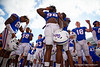 Florida Gators defensive lineman Luke Ancrum (98) and the Gators celebrate after defeating the Vanderbilt Commodores 56-0 at Ben Hill Griffin Stadium in Gainesville, Florida on November 9th, 2019 (Photo by David Bowie/Gatorcountry)