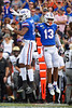 Florida Gators linebacker Mohamoud Diabate (11) and Florida Gators defensive back Donovan Stiner (13) celebrating as the Gators faced and defeat the Vanderbilt Commodores 56-0 at Ben Hill Griffin Stadium in Gainesville, Florida on November 9th, 2019 (Photo by David Bowie/Gatorcountry)