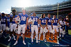 The Florida Gators celebrate as the Gators faced and defeat the Vanderbilt Commodores 56-0 at Ben Hill Griffin Stadium in Gainesville, Florida on November 9th, 2019 (Photo by David Bowie/Gatorcountry)