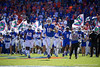 Florida Gators quarterback Kyle Trask (11) leads the Gators onto the field as the Gators defeat the Vanderbilt Commodores 56-0 at Ben Hill Griffin Stadium in Gainesville, Florida on November 9th, 2019 (Photo by David Bowie/Gatorcountry)