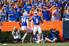 Florida Gators wide receiver Trevon Grimes (8) catches a pass and runs into the endzone as the Gators faced and defeat the Vanderbilt Commodores 56-0 at Ben Hill Griffin Stadium in Gainesville, Florida on November 9th, 2019 (Photo by David Bowie/Gatorcountry)