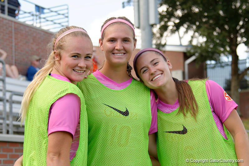 Florida Gators midfielder Tess Sapone (10),Florida Gators defender Kit Loferski (6) and Florida Gators midfielder Lauren Durbin (19) as the Gators defeat the Kentucky Wildcats 4-2 at Donald R. Dizney Stadium in Gainesville, Florida on October 13th, 2019 (Photo by David Bowie/Gatorcountry)