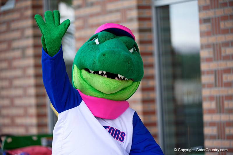 Albert waves as the Florida Gators womens soccer team defeats the Kentucky Wildcats 4-2 at Donald R. Dizney Stadium in Gainesville, Florida on October 13th, 2019 (Photo by David Bowie/Gatorcountry)