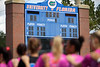 The Florida Gators womens soccer team during the national anthem as the Gators defeat the Kentucky Wildcats 4-2 at Donald R. Dizney Stadium in Gainesville, Florida on October 13th, 2019 (Photo by David Bowie/Gatorcountry)