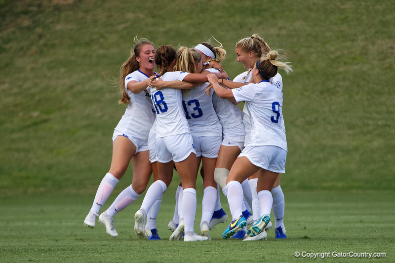 Kentucky celebrates scoring the first goal as the Florida Gators defeat the Kentucky Wildcats 4-2 at Donald R. Dizney Stadium in Gainesville, Florida on October 13th, 2019 (Photo by David Bowie/Gatorcountry)