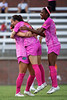 Florida Gators midfielder Laney Steed (4) and Florida Gators midfielder Carina Baltrip-Reyes (8) celebrates as the Gators tie the game 1-1 as the Gators defeat the Kentucky Wildcats 4-2 at Donald R. Dizney Stadium in Gainesville, Florida on October 13th, 2019 (Photo by David Bowie/Gatorcountry)