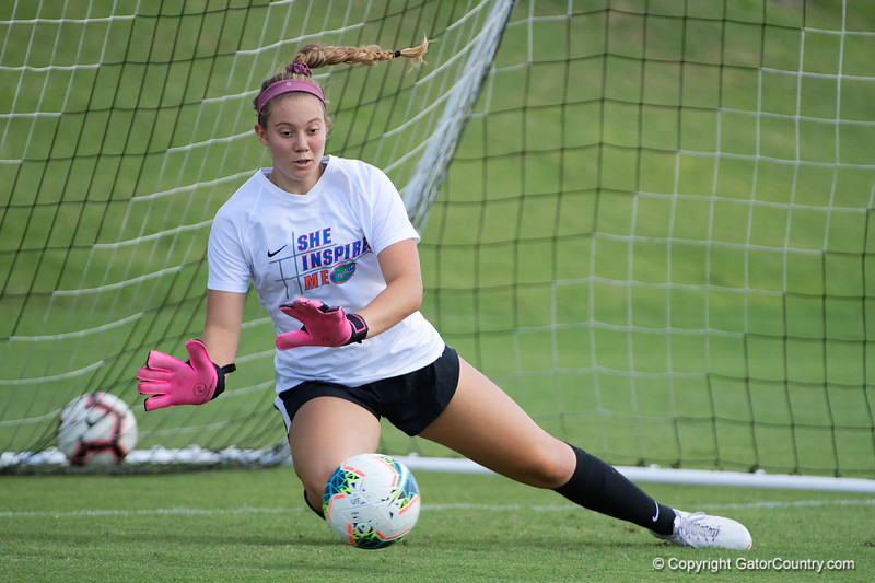 Florida Gators goalkeeper Francesca Faraci (37) during warmup as the Gators defeat the Kentucky Wildcats 4-2 at Donald R. Dizney Stadium in Gainesville, Florida on October 13th, 2019 (Photo by David Bowie/Gatorcountry)