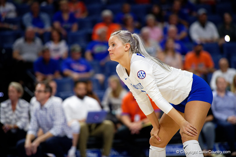 Florida Gators Riley Fischer (31) as the Gators faced the #1 Stanford Cardinals at the Stephen C. O'Connell Center in Gainesville, Florida on September 4th, 2019 (Photo by David Bowie/Gatorcountry)