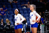 Florida Gators Riley Fischer (31) and Florida Gators defensive specialist Chanelle Hargreaves (23) as the Gators faced the #1 Stanford Cardinals at the Stephen C. O'Connell Center in Gainesville, Florida on September 4th, 2019 (Photo by David Bowie/Gatorcountry)
