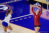Stanford Cardinals Jenna Gray (1) as the Gators faced the #1 Stanford Cardinals at the Stephen C. O'Connell Center in Gainesville, Florida on September 4th, 2019 (Photo by David Bowie/Gatorcountry)