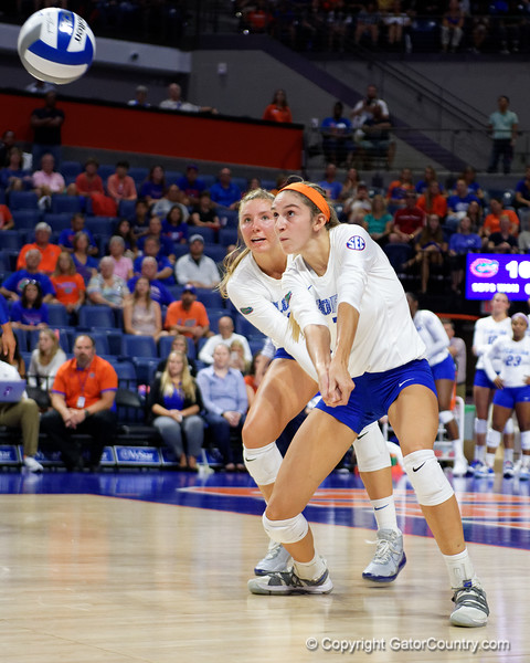 Florida Gators outside hitter Paige Hammons (7) as the Gators faced the #1 Stanford Cardinals at the Stephen C. O'Connell Center in Gainesville, Florida on September 4th, 2019 (Photo by David Bowie/Gatorcountry)