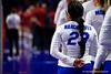 Florida Gators defensive specialist Chanelle Hargreaves (23) as the Gators faced the #1 Stanford Cardinals at the Stephen C. O'Connell Center in Gainesville, Florida on September 4th, 2019 (Photo by David Bowie/Gatorcountry)