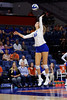 Florida Gators Holly Carlton (40) as the Gators faced the #1 Stanford Cardinals at the Stephen C. O'Connell Center in Gainesville, Florida on September 4th, 2019 (Photo by David Bowie/Gatorcountry)