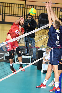 CEV Champions League - IBB Polonia 0 v 3 Mladost Zagreb (9, 12, 22), Copper Box Arena, London. 30 October 2019.  © Lynne Marshall  To buy unwatermarked prints and JPGs, visit:  https://www.volleyballphotos.co.uk/2019-Galleries/CEV-FIVB-Events/2019-10-30-CEV-Champions-League/