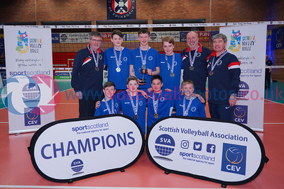 City of Edinburgh 2 v 0 Volleyball Aberdeen (27-25, 25-22), 2019 U16 Boys Scottish Cup Final, University of Edinburgh Centre for Sport and Exercise, Sun 14th Apr 2019.  © Michael McConville   https://www.volleyballphotos.co.uk/2019-Galleries/SCO/Junior-SVL/2019-04-14-Boys-U16