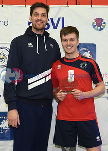 City of Edinburgh 2 vs 0 Volleyball Aberdeen (23, 17), Boys Under 18 Cup Final, University of Edinburgh Centre for Sport and Exercise, 14 April 2019.  © Lynne Marshall  https://www.volleyballphotos.co.uk/2019-Galleries/SCO/Junior-SVL/2019-04-14-Boys-U18/