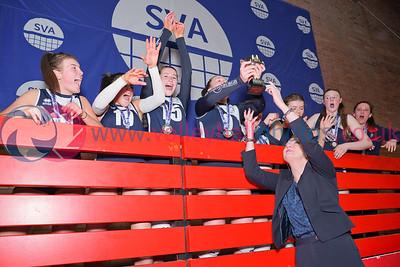 Caledonia West 1 v 2 City of Edinburgh (13-25, 25-23, 4-15), 2019 U18 Girls Scottish Cup Final, University of Edinburgh Centre for Sport and Exercise, Sun 14th Apr 2019.  © Michael McConville   https://www.volleyballphotos.co.uk/2019-Galleries/SCO/Junior-SVL/2019-04-14-Girls-U18