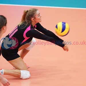Caledonia West 1 v 2 City of Edinburgh (13-25, 25-23, 4-15), 2019 U18 Girls Scottish Cup Final, University of Edinburgh Centre for Sport and Exercise, Sun 14th Apr 2019.  © Michael McConville   https://www.volleyballphotos.co.uk/2019-Galleries/SCO/Junior-SVL/2019-04-14-Girls-U18