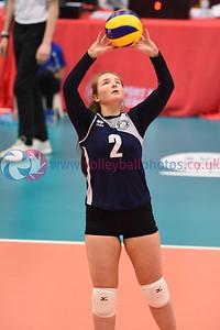 Caledonia West 0 vs 2 City of Edinburgh (20, 24), Girl's Under 16 Cup Final, University of Edinburgh Centre for Sport and Exercise, 14 April 2019.  © Lynne Marshall  https://www.volleyballphotos.co.uk/2019-Galleries/SCO/Junior-SVL/2019-04-14-U16-Girls/