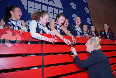 Caledonia West 0 v 2 City of Edinburgh (20-25, 24-26), 2019 U16 Girls Scottish Cup Final, University of Edinburgh Centre for Sport and Exercise, Sun 14th Apr 2019.  © Michael McConville   https://www.volleyballphotos.co.uk/2019-Galleries/SCO/Junior-SVL/2019-04-14-U16-Girls