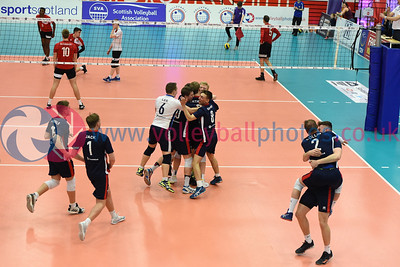 City of Glasgow Ragazzi 1 v 3 City of Edinburgh (23-25, 23-25, 25-22, 22-25, Men's Cup Final,, University of Edinburgh, Centre for Sport and Exercise, 13 April 2019.  © Lynne Marshall  https://www.volleyballphotos.co.uk/2019-Galleries/SCO/National-Cups/2019-04-13-Mens-Cup-Final/