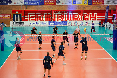 Glasgow Mets 3 v 0 Lenzie (25-21, 25-22, 29-27), 2019 Men's Scottish Plate Final, University of Edinburgh Centre for Sport and Exercise, Sat 13th Apr 2019.  © Michael McConville. View more photos at:  https://www.volleyballphotos.co.uk/2019-Galleries/SCO/National-Cups/2019-04-13-Mens-Plate-Final