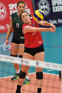 City of Edinburgh 3 v 1 University of Edinburgh (25-21, 21-25, 25-16, 25-20),  Women's Cup Final, University of Edinburgh, Centre for Sport and Exercise, 13 April 2019.  © Lynne Marshall  https://www.volleyballphotos.co.uk/2019-Galleries/SCO/National-Cups/2019-04-13-Womens-Cup-Final/