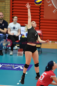 Troon Caledonia West Vets 3 v 2 University of Edinburgh II (18-25, 16-25, 25-20, 25-23, 15-11), Women's Plate Final, University of Edinburgh, Centre for Sport and Exercise, 13 April 2019.  © Lynne Marshall  https://www.volleyballphotos.co.uk/2019-Galleries/SCO/National-Cups/2019-04-13-Womens-Plate-Final/
