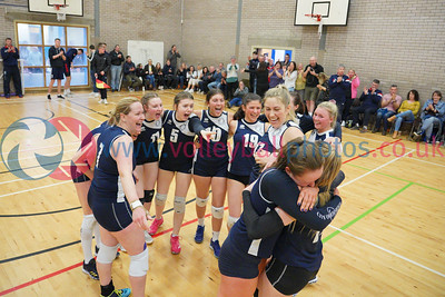 City of Edinburgh 3 v 2 Su Ragazzi (19-25, 19-25, 25-21, 25-19, 16-14), Women's SVL Premier Decider, Queensferry HS, Sun 7th Apr 2019.