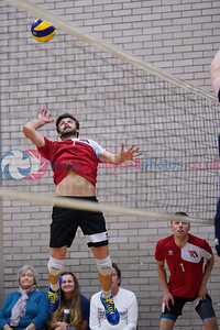City of Edinburgh 3 v 0 City of Glasgow Ragazzi (15, 24, 23), SVL Men's Premier Division, Queensferry High School, Edinburgh, Sat 12th Oct 2019. © Michael McConville  To buy unwatermarked prints or hi-res images, visit:  https://www.volleyballphotos.co.uk/2019-Galleries/SCO/SVL/2019-10-12-coe-cogr