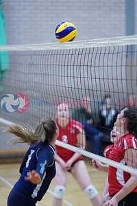 City of Edinburgh 0 v 3 Su Ragazzi (24, 21, 21), SVL Women's Premier Division, Queensferry High School, Edinburgh, Sat 12th Oct 2019.  To buy unwatermarked prints or hi-res images, visit:  https://www.volleyballphotos.co.uk/2019-Galleries/SCO/SVL/2019-10-12-coe-su-ragazzi