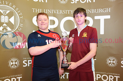 James Gillespies HS 0 vs 0 Queensferry HS (19, 12), S5/S6 Boys Schools Cup Final,  University of Edinburgh Centre for Sport and Exercise, 12 April 2019.  © Lynne Marshall  https://www.volleyballphotos.co.uk/2019-Galleries/SCO/Schools/2019-04-12-BSCF/