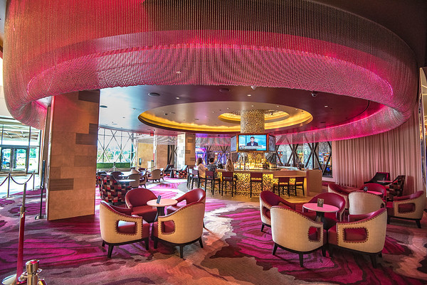 James Neiss/Staff Photographer<br /> Niagara Falls, NY - The Seneca Niagara Resort & Casino showed off their $40 million renovation project to the media on Thursday, including The Lobfy Bar.
