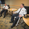 James Neiss/staff photographer <br /> Niagara Falls, NY - Niagara Falls Fire Chief Joseph Pedulla and Police Superintendent Thomas Licata were joined by a host of other dignitaries to raise money at the Niagara Falls Memorial Auxiliary 18th Annual Rock-a-thon. <br /> <br /> Press Release:<br /> <br /> Media Alert for Friday, May 3<br /> <br /> Memorial Auxiliary to hold 18th Annual Rock-a-thon<br /> Community leaders will rock for better health<br /> <br /> The Auxiliary of Niagara Falls Memorial Medical Center will hold its Helen M. Smith Memorial Rock-a-thon from 8:30 a.m. to 2 p.m. Friday in the hospital's upper lobby.<br /> Members and friends of the Auxiliary, including elected officials and other community leaders, will rock (in rocking chairs) for half-hour increments to raise money for equipment and programs at Memorial.<br /> Now in its 18th year, the event has raised nearly $150,000 for the medical center. It is named in memory of Helen Smith, a retired nurse and longtime Auxiliary member who founded the event.<br /> <br /> Media/photo/video coverage is invited. For more information, call 278-4604.<br /> <br /> Community leaders scheduled to rock include:<br /> <br /> 8:30 a.m. - Councilman Chris Voccio<br /> 9 a.m. – Police Supt. Thomas Licata<br /> 9 a.m. – Fire Chief Joseph Pedulla<br /> 9 a.m. – Legislator Jason Zona<br /> 10 a.m. – Susan Macri (representing Brian Higgins)<br /> 10 a.m. – Community Development Director Seth Piccirillo<br /> 11 a.m. – Mayor Paul Dyster<br /> 11 a.m. – City Administrator Nick Melson<br /> 11 a.m. – Ron Anderluh—Niagara Street Business Assn.<br /> 11:30 a.m. – Craig Avery <br /> 12 p.m. – John Cooper – Memorial Park Block Club<br /> <br /> #NFMMC