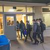 James Neiss/staff photographer <br /> Newfane, NY - Newfane High School students arrive at school on Friday.