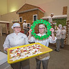 James Neiss/staff photographer <br /> Niagara Falls, NY - Niagara Falls Culinary Arts students, Reanna Hewitt of Niagara Falls and Gavi Deveso of Amherst show off some of the building materials used in constructing this years Gingerbread Wonderland on the second floor of the Culinary Institute. The Gingerbread Wonderland opens December 7th during Jingle Falls on Old Falls Street.