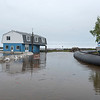 James Neiss/staff photographer <br /> Newfane, NY - Business owners on the Olcott waterfront continue to deal with the rising lake waters, some with a sense of humor.