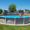 James Neiss/staff photographer <br /> Niagara Falls, NY - Pool weather has finally come to Niagara Falls, though Stan Kowalski of Katherine Drive in Wheatfield said his pool was ready two weeks ago.