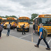 James Neiss/staff photographer <br /> Lockport, NY - Students at North Park Junior High head out after the first day of school in Lockport.