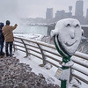 James Neiss/staff photographer <br /> Niagara Falls, NY - Bill and Debbie Stevenson of Grand Island take in the winter view of the HorseShoe Falls on Goat Island. Mother nature nicely decorated the landscape around Niagara Falls State Park on Monday.