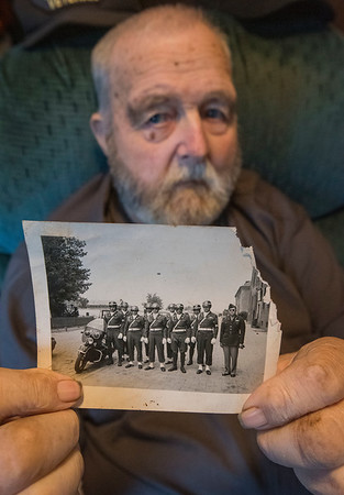 James Neiss/staff photographer <br /> Hartland, NY - WWII Veteram Glenn Cooper, now 92, escorted dignitaries to the Nuremberg Trials after the war as an MP.